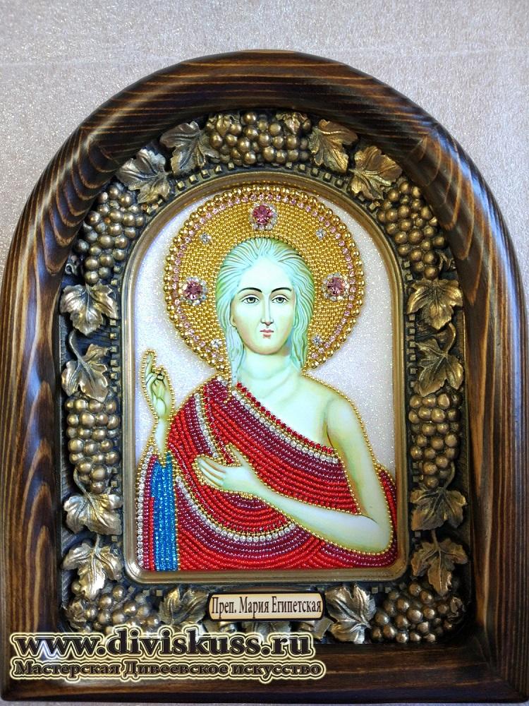 купить икону бисером преподобная Мария Египетская